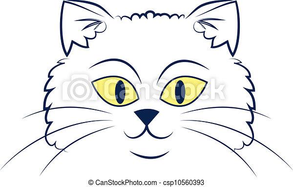 gato esboço rosto esboçado gato grande rosto caricatura