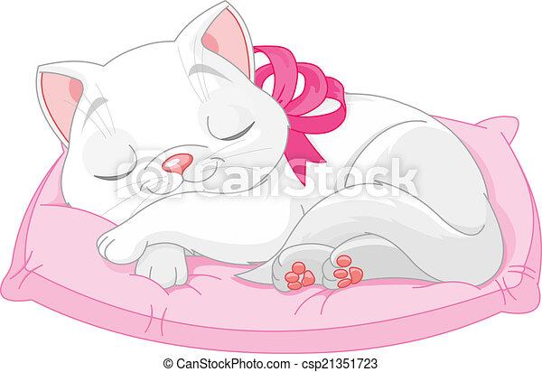 Lindo gato blanco - csp21351723