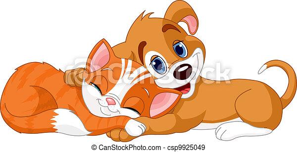 Perro y gato - csp9925049