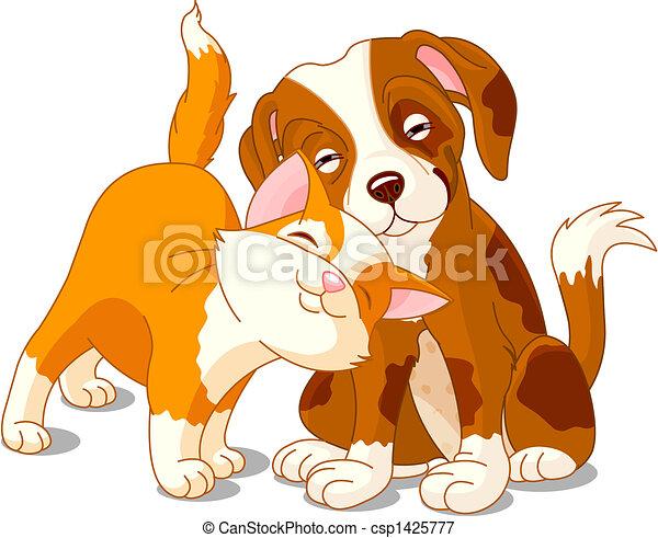 Gato y perro - csp1425777