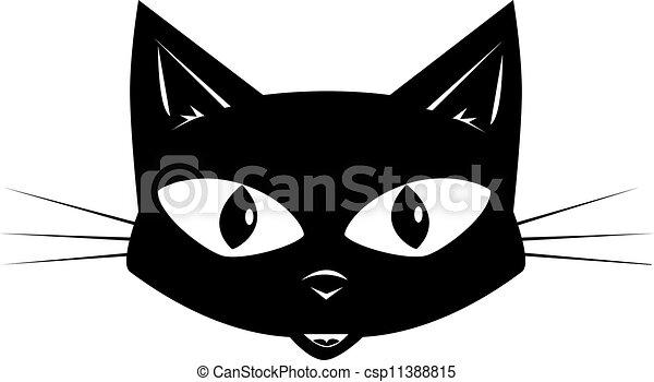 adesivo máscara rosto gato preto ou