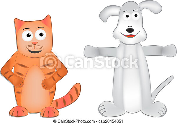 Dibujos de perros y gatos - csp20454851