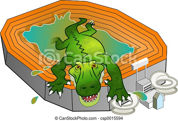 gator stadium alligator climbing out from the swamp which is ben rh canstockphoto com swamp clip art free swamp tree clipart