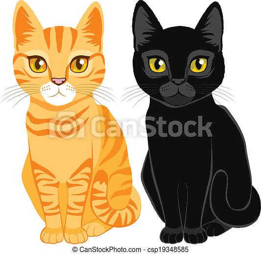 Gatos Negro Atigrado Lindo Color De Los Ojos Atigrado Amarillo