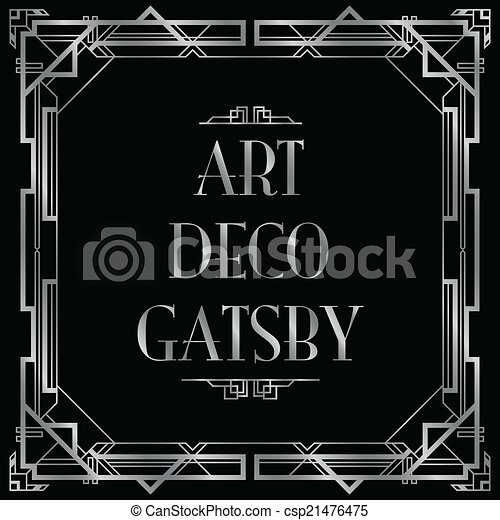 gatsby art deco background - csp21476475