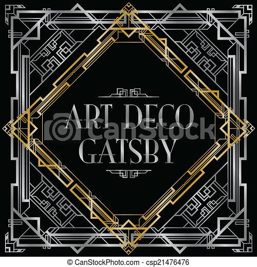 gatsby art deco background - csp21476476