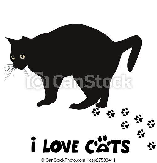 gatti, amore, scheda - csp27583411