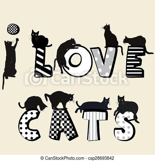 gatti, amore - csp28693842