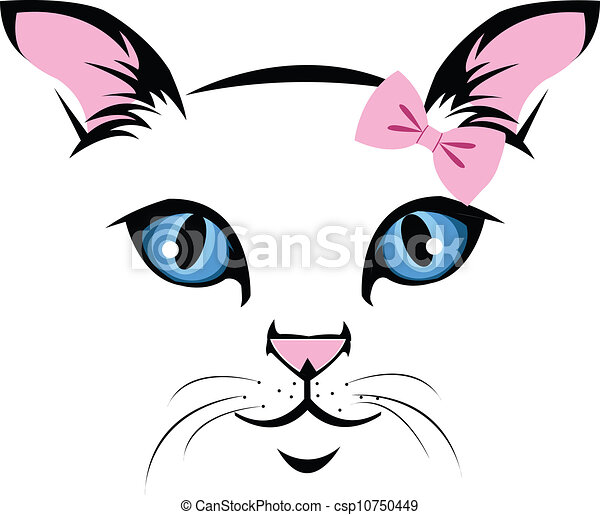Gatto faccia muso innamorato gatto vettore eps cerca for Gatto clipart