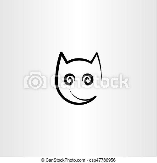 Gatto Stilizzato Disegno Logotipo Elemento Icona Stilizzato