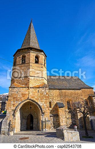 Gausac church village near Viella Vielha - csp62543708