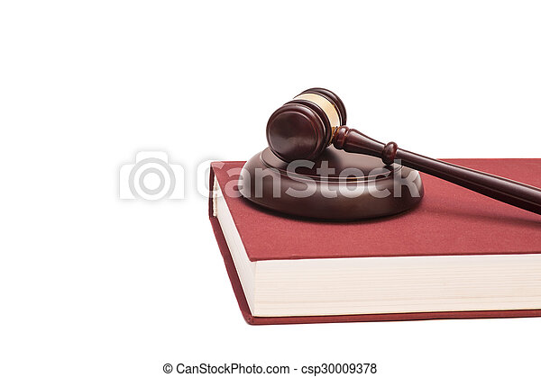 Gavel and book  - csp30009378