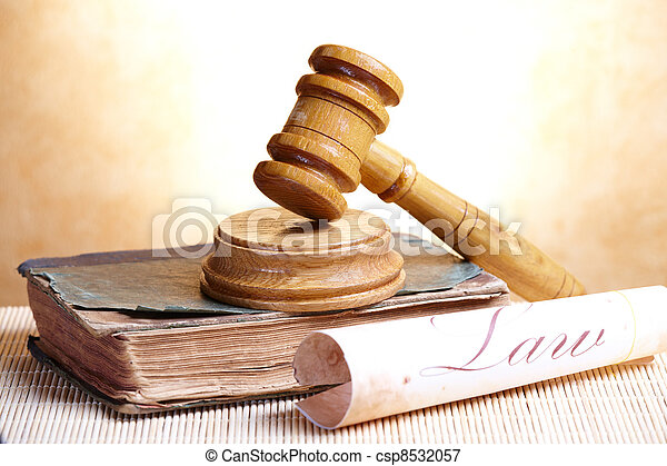 Gavel and book - csp8532057