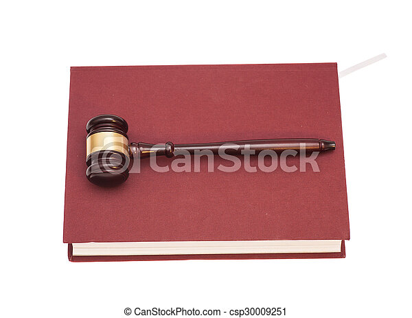 Gavel and book  - csp30009251