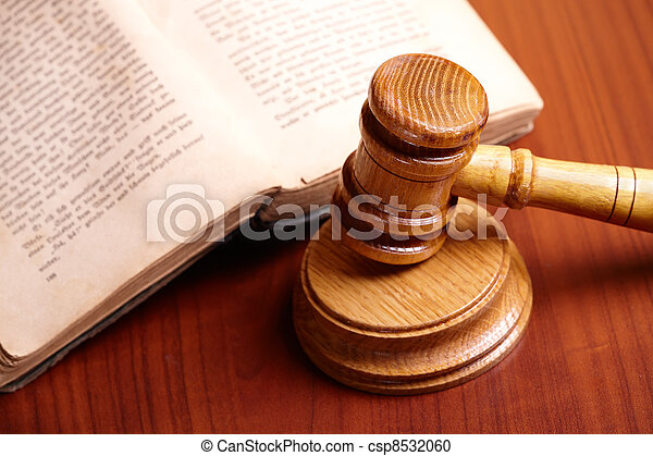 Gavel and book - csp8532060