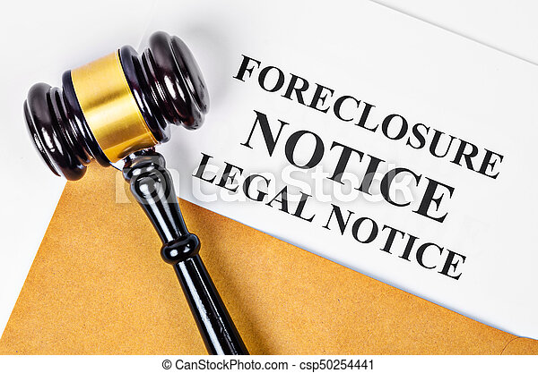 Gavel and Foreclosure Notice document. - csp50254441