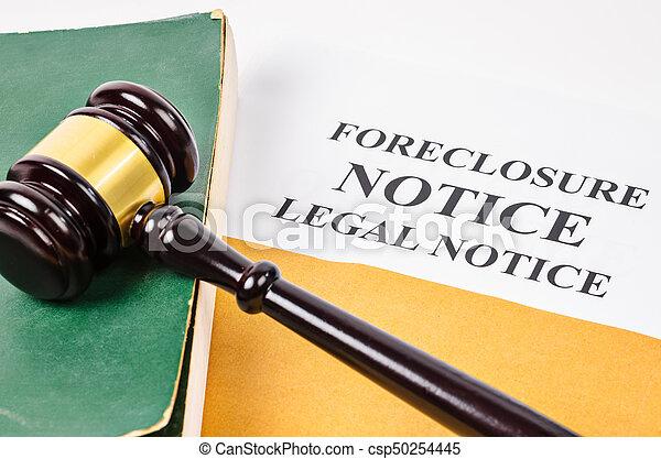 Gavel and Foreclosure Notice document. - csp50254445