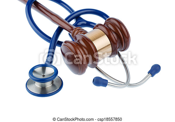 gavel and stethoscope - csp18557850