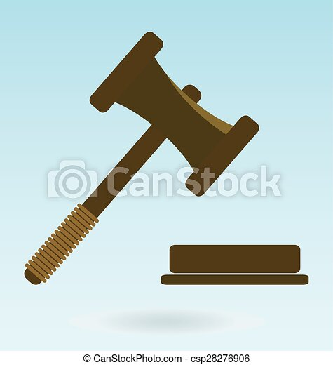 Gavel Icon Law Symbol Of Justice And Judgment
