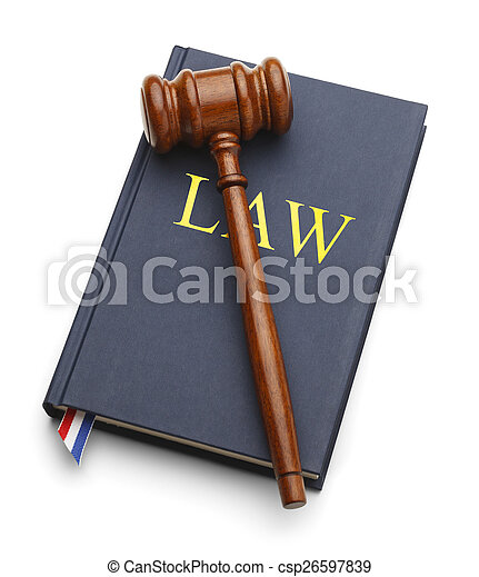 Gavel Law Book - csp26597839
