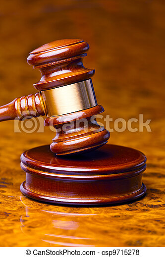 gavel of a judge in court - csp9715278