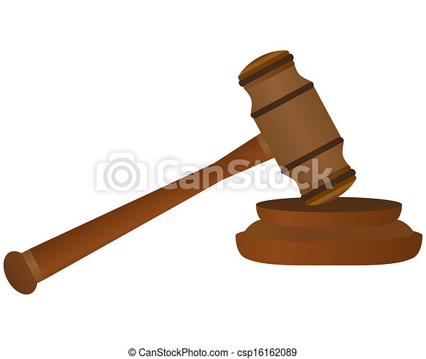 gavel on white background  - csp16162089