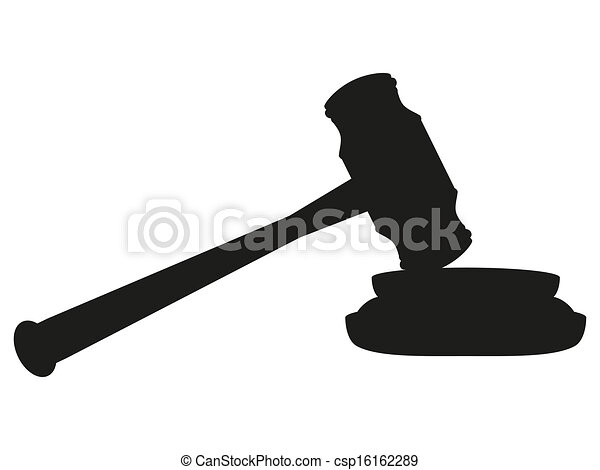 gavel on white background  - csp16162289