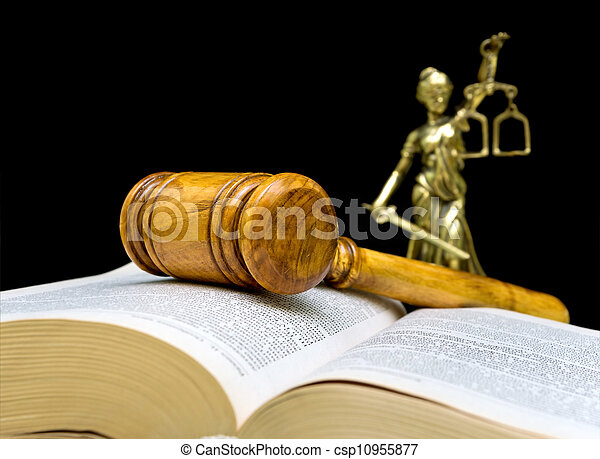 gavel, pretas, closeup, fundo - csp10955877