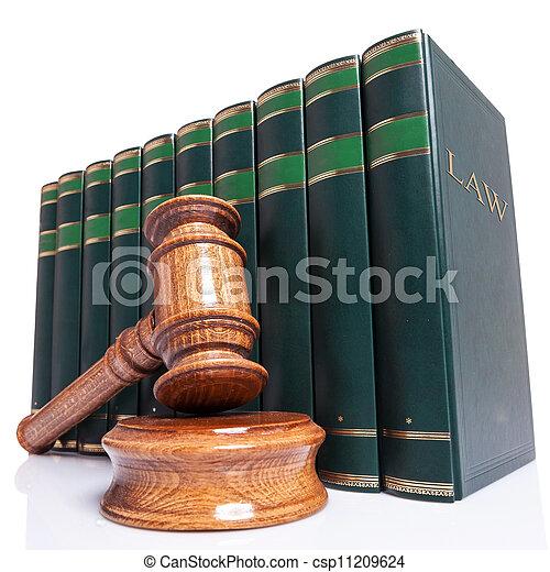 gavel, rechters, wet boeekt - csp11209624
