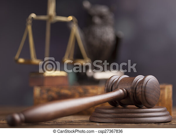 Gavel,Law theme, mallet of judge - csp27367836