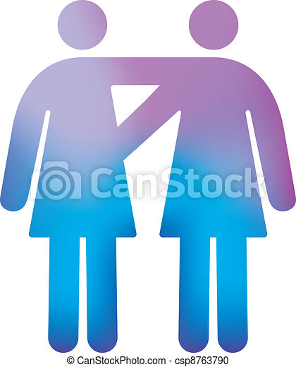 Gay Female Couple - csp8763790
