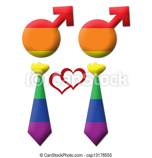 Gay graphic - two element in tie - . An image of two gay ...
