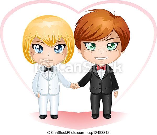 Gay Grooms Getting Married 2 - csp12483312