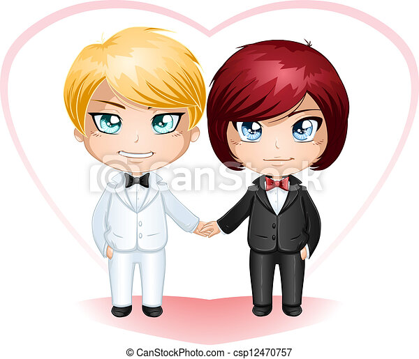 Gay Grooms Getting Married 3 - csp12470757