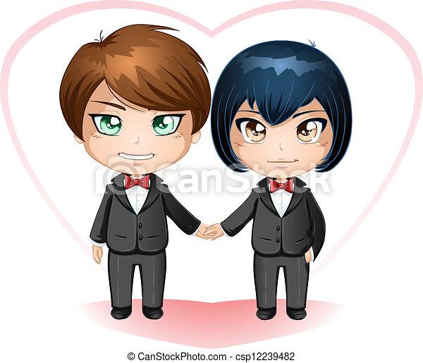 Gay Grooms Getting Married - csp12239482