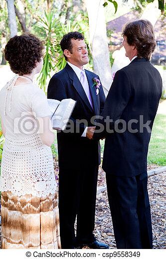 Gay Marriage - Saying Vows - csp9558349