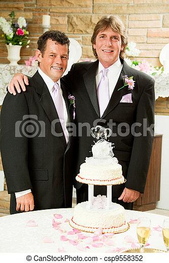 Gay Marriage - Wedding Reception - csp9558352