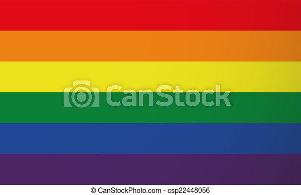 Gay pride flag - csp22448056