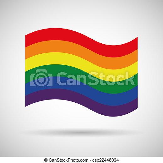 Gay pride flag - csp22448034