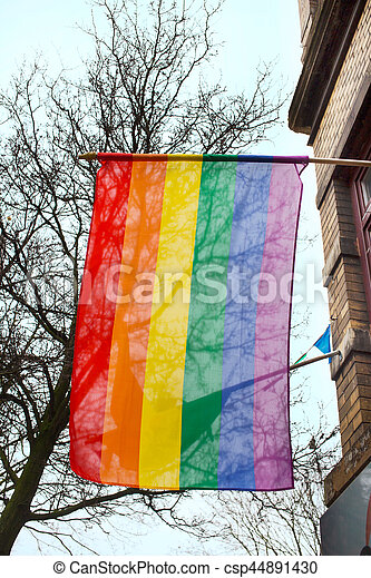 Gay rainbow flag - csp44891430