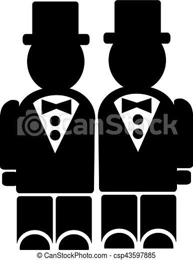 Gay wedding clip art