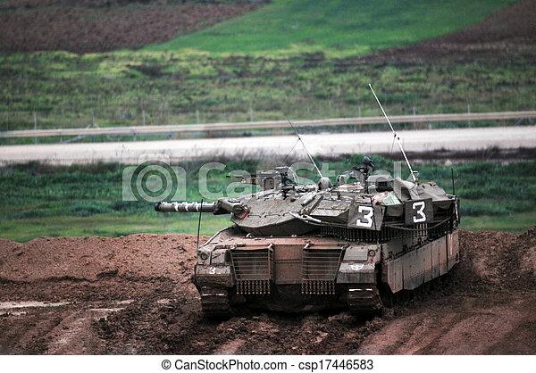 gaza, idf, faixa, pronto, incursion, chão - csp17446583