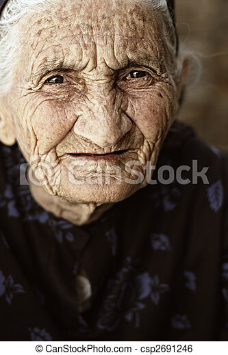 Gaze of senior woman - csp2691246