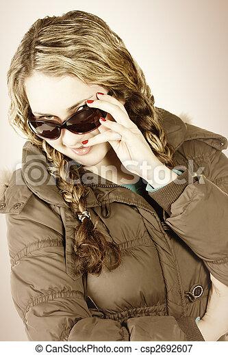 Gaze over sunglasses - csp2692607