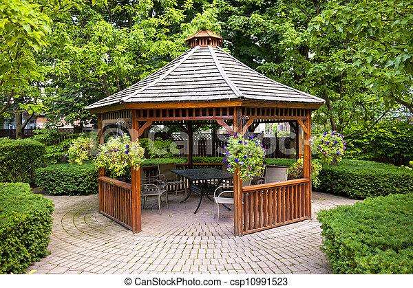 Gazebo in garden - csp10991523