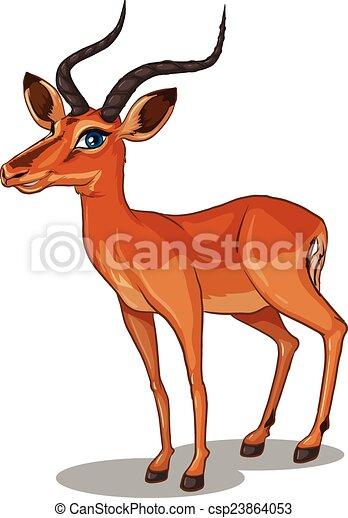 Grand plan illustration gazelle - Gazelle dessin ...