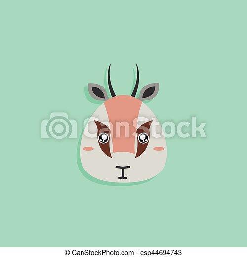 Gazelle dessin anim figure bleu animaux face abstraite fond dessin anim - Gazelle dessin ...
