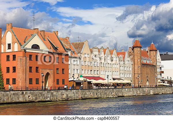 gdansk, polônia, cidade velha - csp8400557