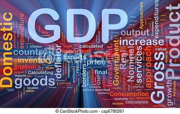 gdp, glødende, begreb, baggrund, økonomi - csp6780261