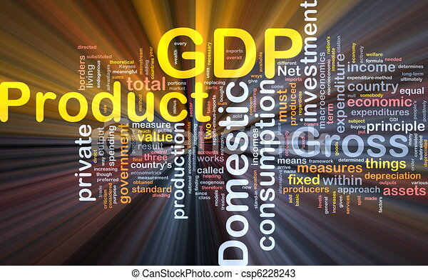 GDP is bone background concept glowing - csp6228243